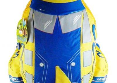 tas anak pesawat biru