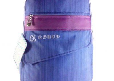 tas punggung biru