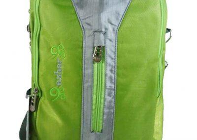 tas sekolah remaja hijau