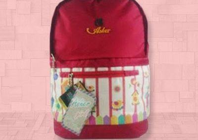 tas ransel wanita 29-0214 - Merah - A